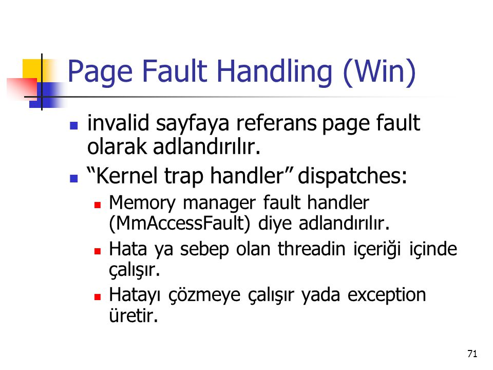 Page Fault Handling (Win)