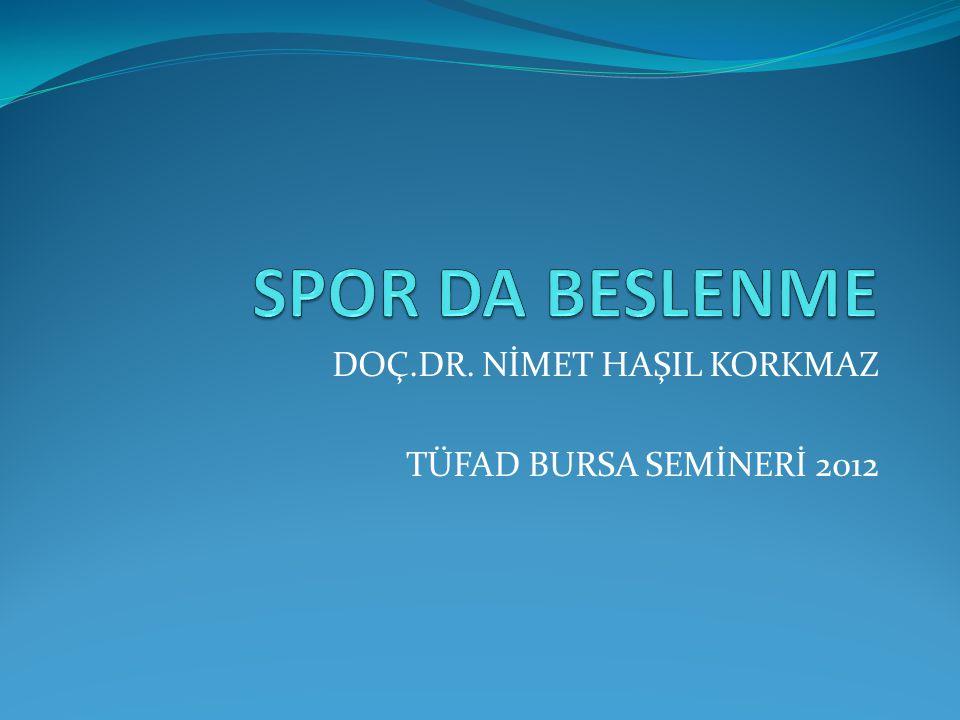 DOÇ.DR. NİMET HAŞIL KORKMAZ TÜFAD BURSA SEMİNERİ 2012