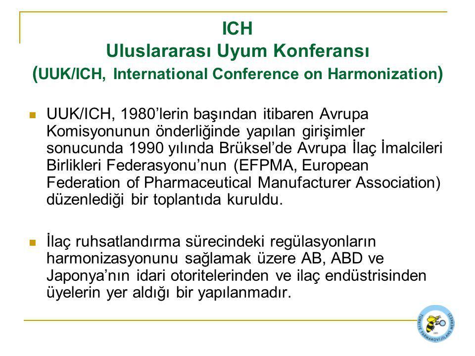 ICH Uluslararası Uyum Konferansı (UUK/ICH, International Conference on Harmonization)