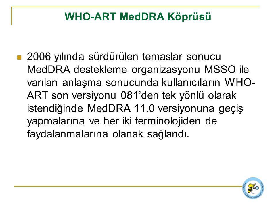 WHO-ART MedDRA Köprüsü