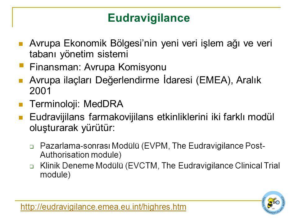 Eudravigilance Avrupa Ekonomik Bölgesi'nin yeni veri işlem ağı ve veri tabanı yönetim sistemi. Finansman: Avrupa Komisyonu.