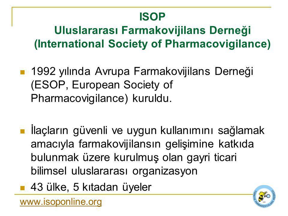 ISOP Uluslararası Farmakovijilans Derneği (International Society of Pharmacovigilance)