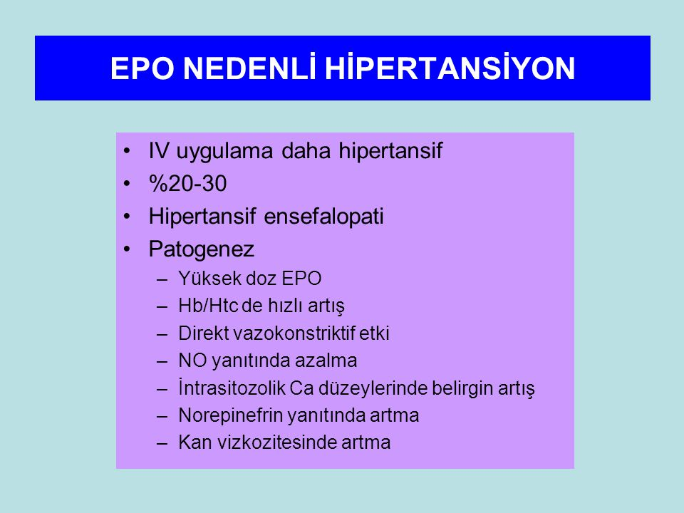 EPO NEDENLİ HİPERTANSİYON