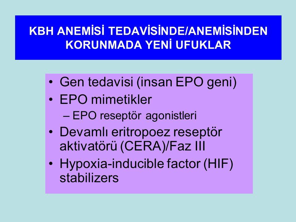 KBH ANEMİSİ TEDAVİSİNDE/ANEMİSİNDEN KORUNMADA YENİ UFUKLAR