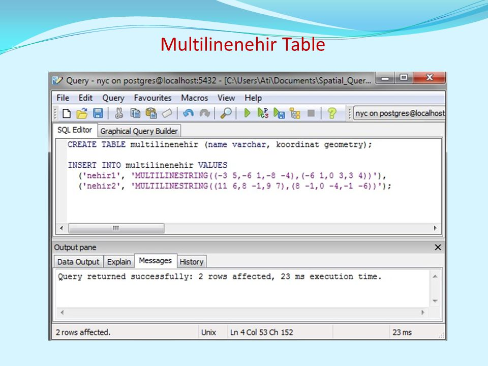 Multilinenehir Table