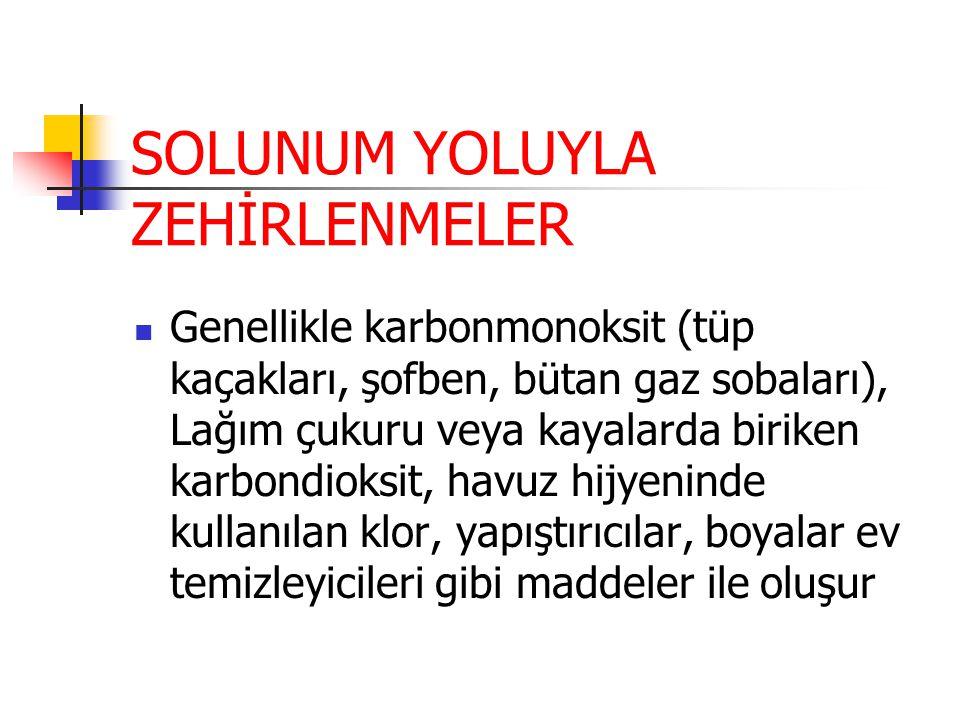 SOLUNUM YOLUYLA ZEHİRLENMELER