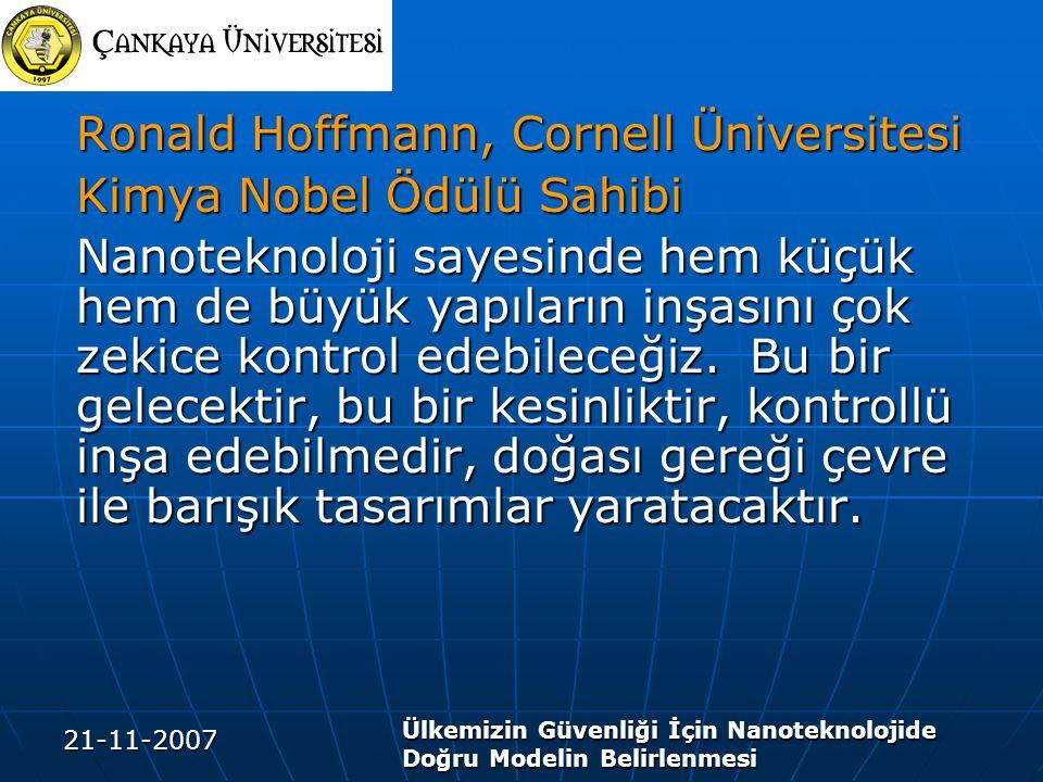 Ronald Hoffmann, Cornell Üniversitesi Kimya Nobel Ödülü Sahibi
