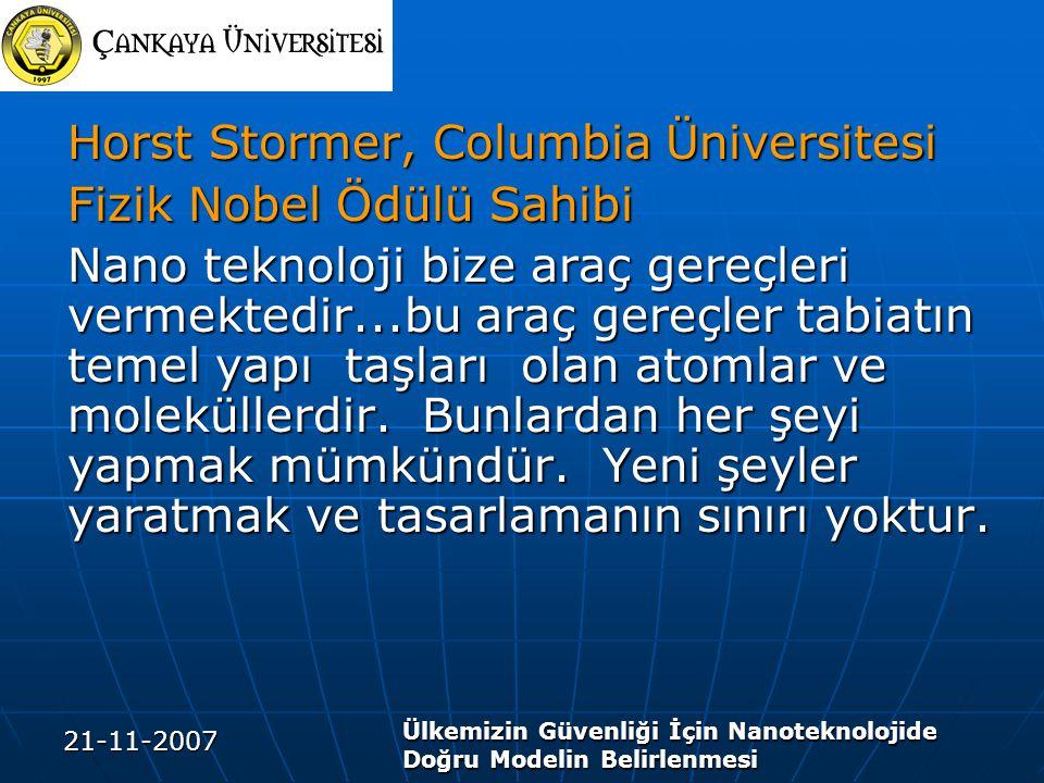 Horst Stormer, Columbia Üniversitesi Fizik Nobel Ödülü Sahibi