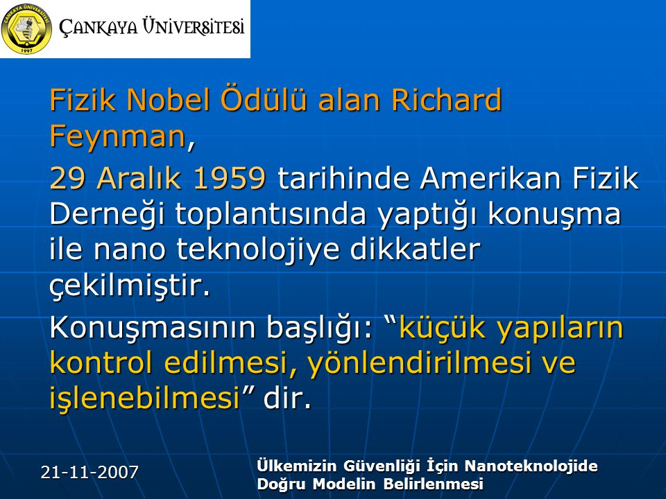 Fizik Nobel Ödülü alan Richard Feynman,