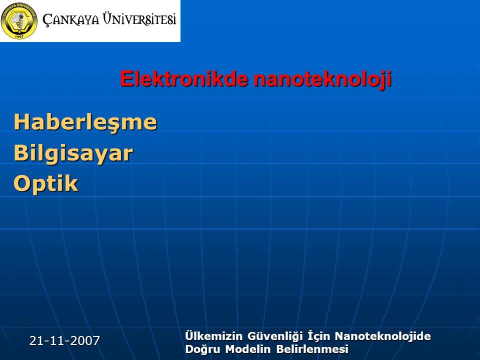 Elektronikde nanoteknoloji