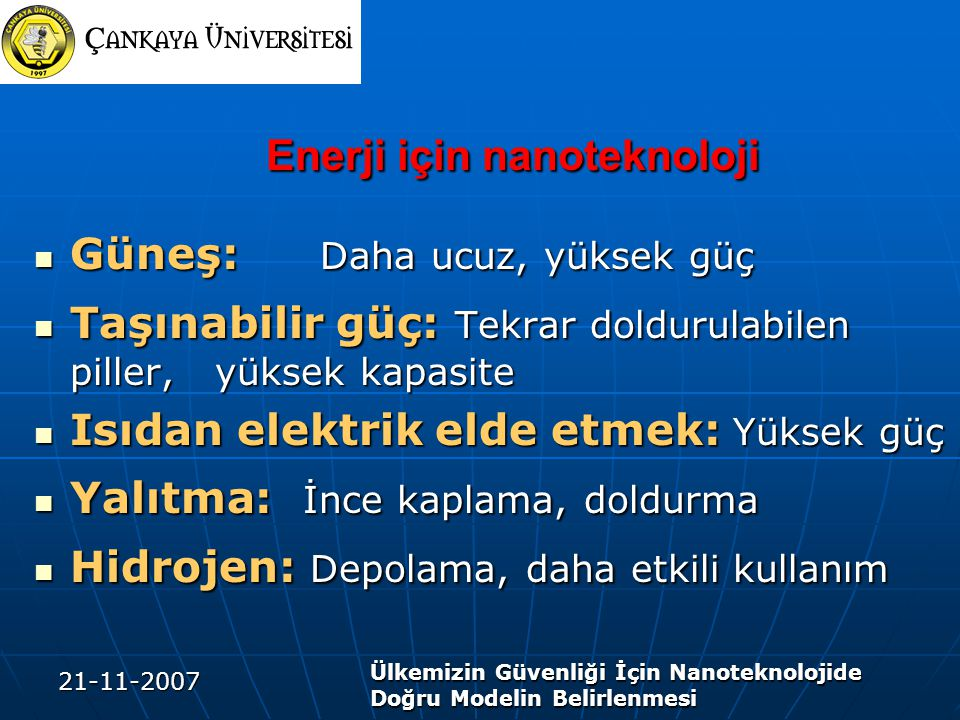 Enerji için nanoteknoloji