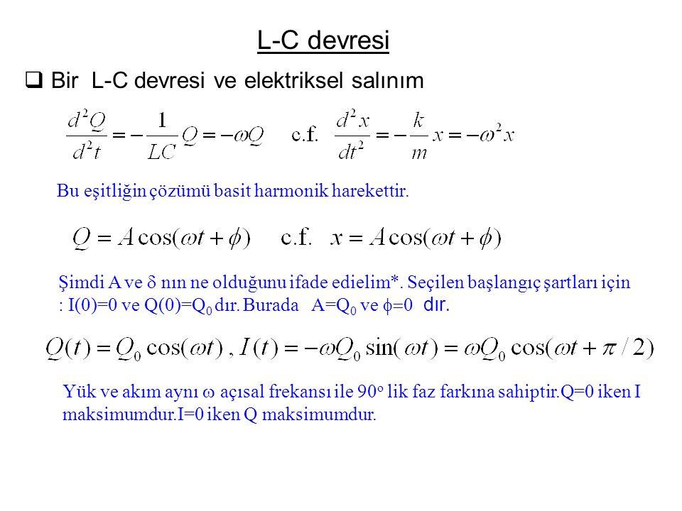 L-C devresi Bir L-C devresi ve elektriksel salınım