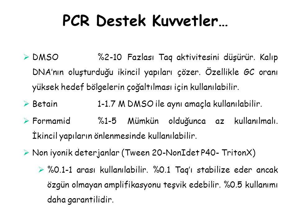 PCR Destek Kuvvetler…