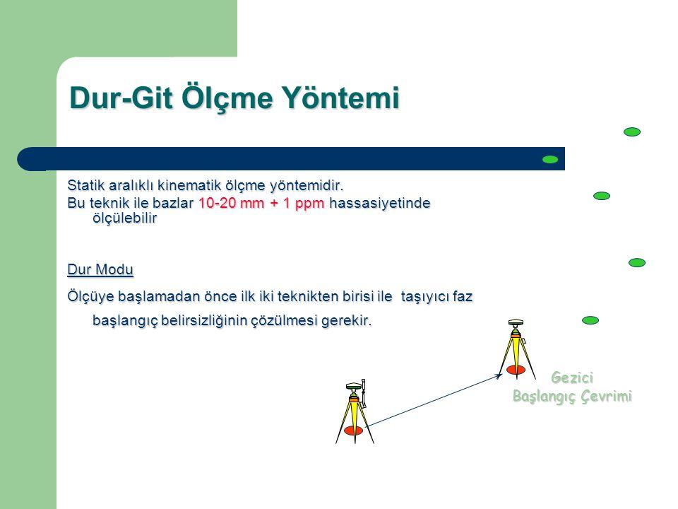 Dur-Git Ölçme Yöntemi Statik aralıklı kinematik ölçme yöntemidir.