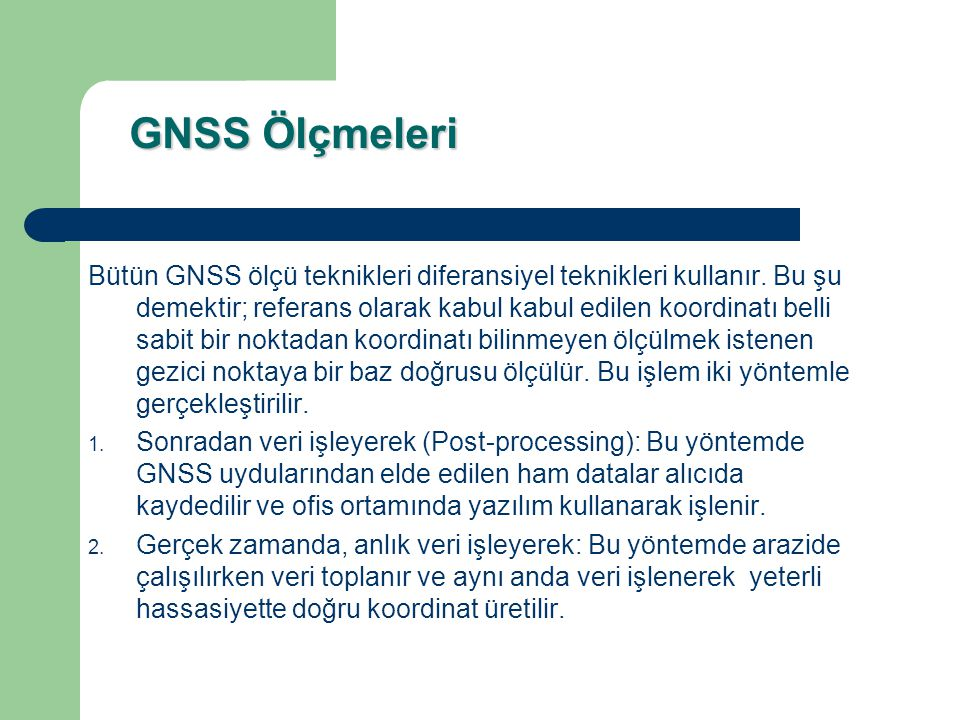 GNSS Ölçmeleri
