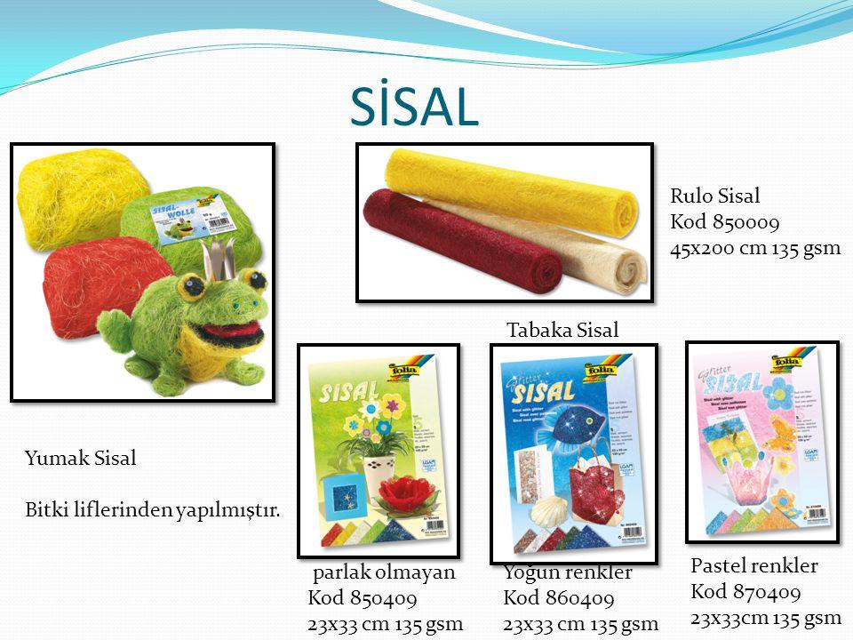 SİSAL Rulo Sisal Kod 850009 45x200 cm 135 gsm Tabaka Sisal Yumak Sisal