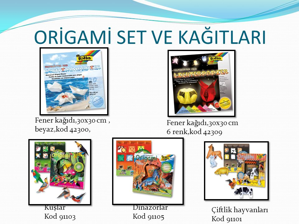 ORİGAMİ SET VE KAĞITLARI