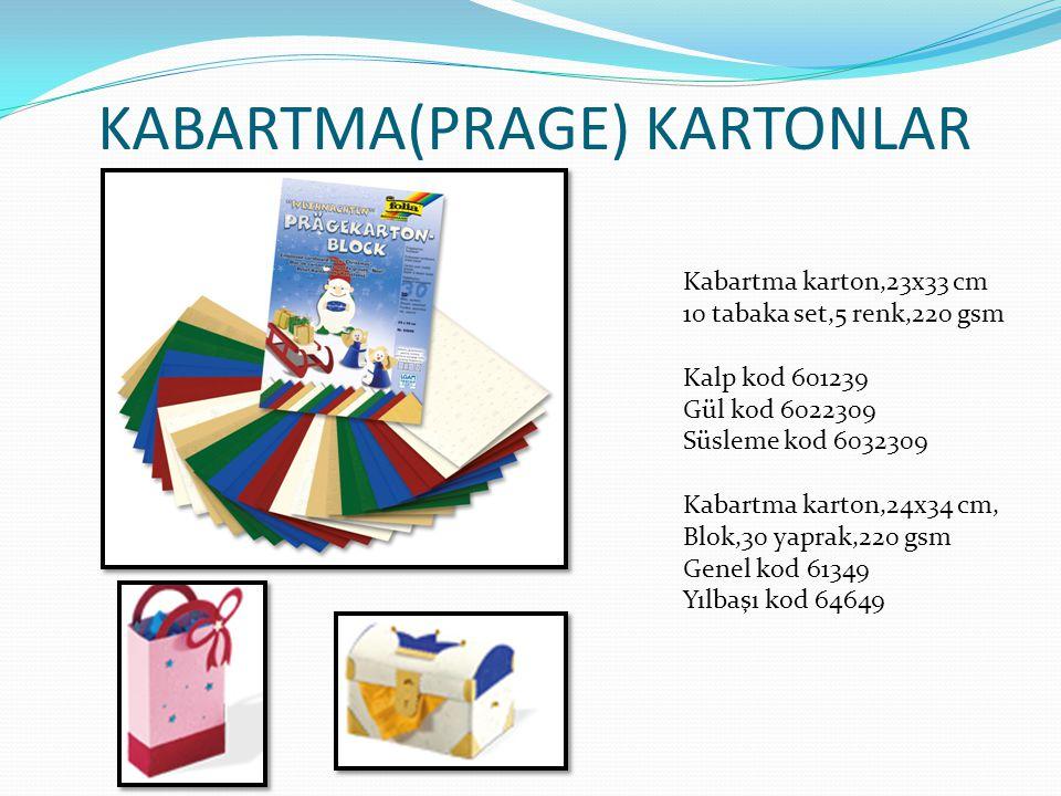 KABARTMA(PRAGE) KARTONLAR