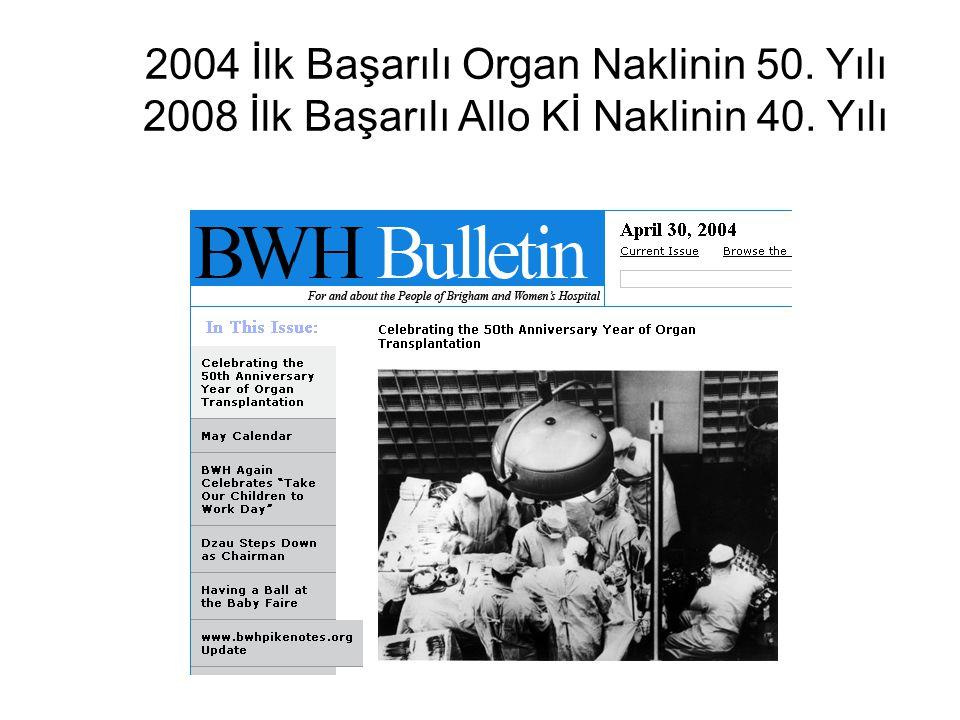 2004 İlk Başarılı Organ Naklinin 50
