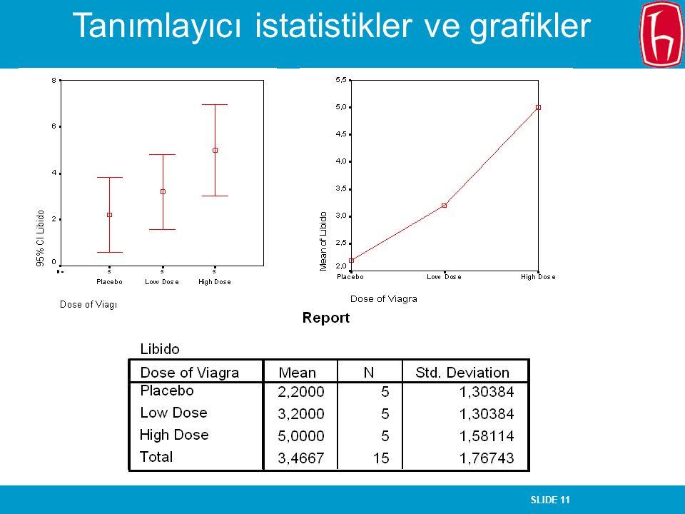 Tanımlayıcı istatistikler ve grafikler
