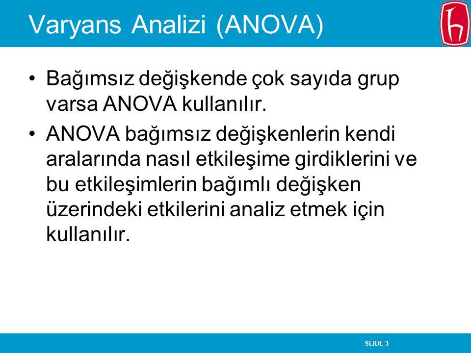 Varyans Analizi (ANOVA)