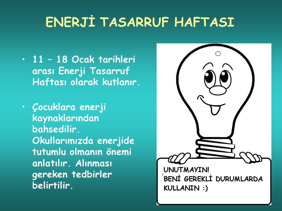 ENERJİ TASARRUF HAFTASI