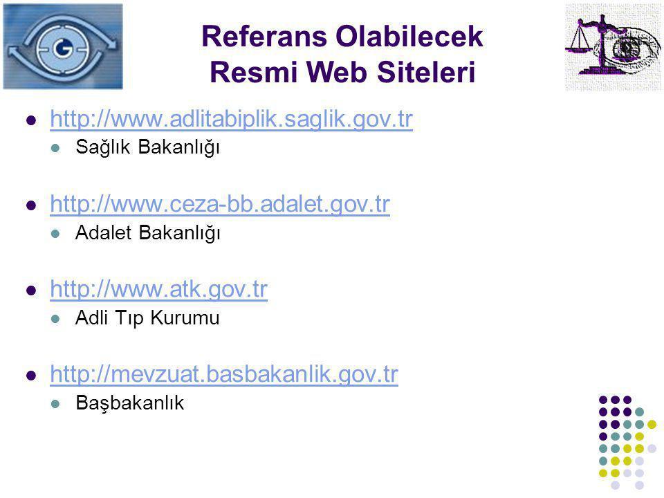 Referans Olabilecek Resmi Web Siteleri