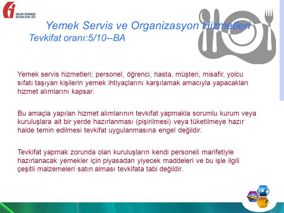 Yemek Servis ve Organizasyon Hizmetleri
