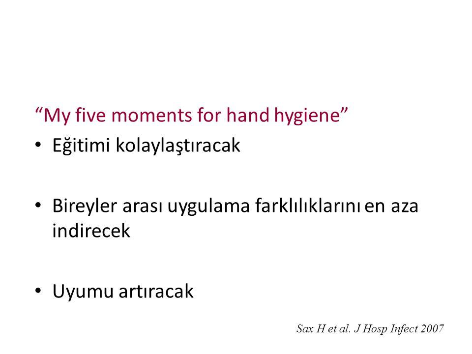 My five moments for hand hygiene Eğitimi kolaylaştıracak