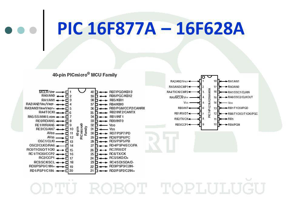 PIC 16F877A – 16F628A