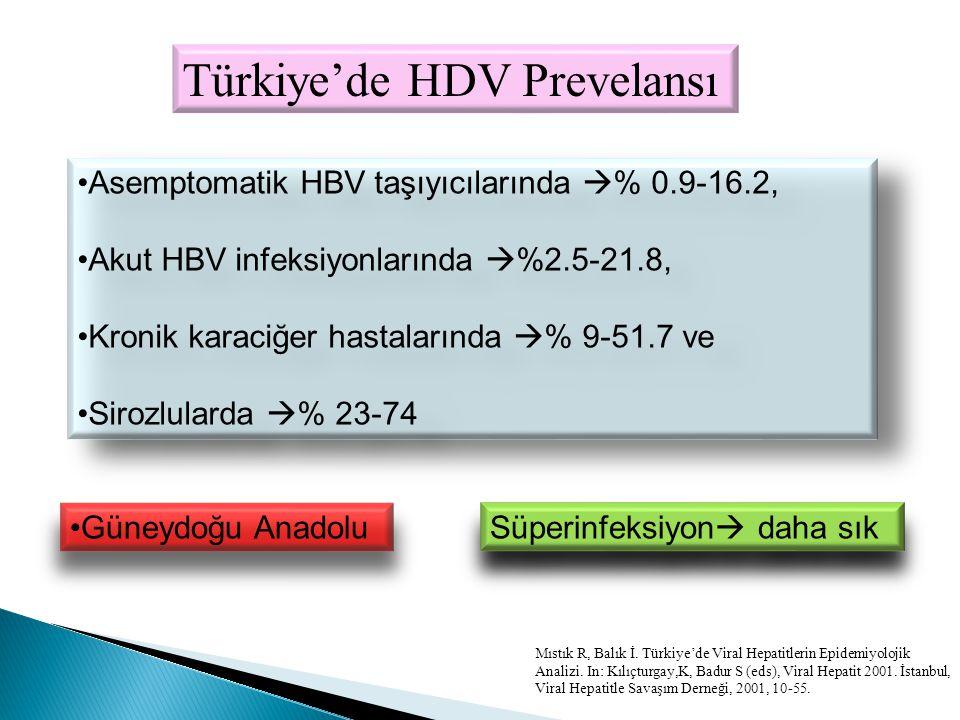 Türkiye'de HDV Prevelansı