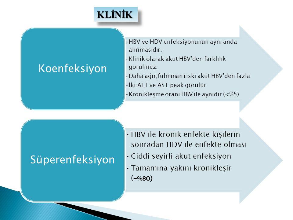 KLİNİK HBV ve HDV enfeksiyonunun aynı anda alınmasıdır.