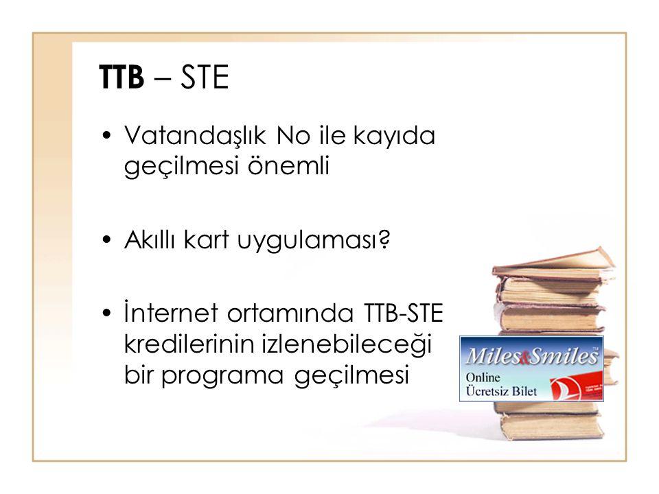 TTB – STE Vatandaşlık No ile kayıda geçilmesi önemli