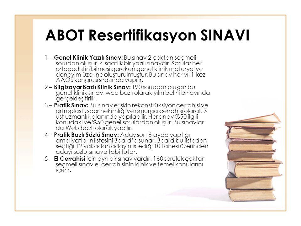 ABOT Resertifikasyon SINAVI