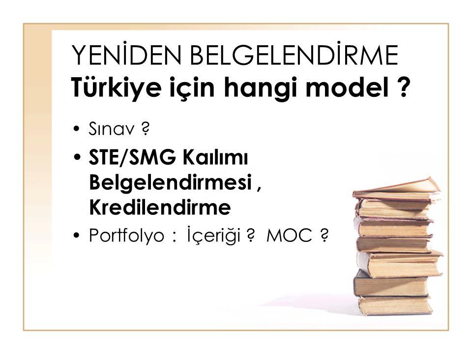 YENİDEN BELGELENDİRME Türkiye için hangi model