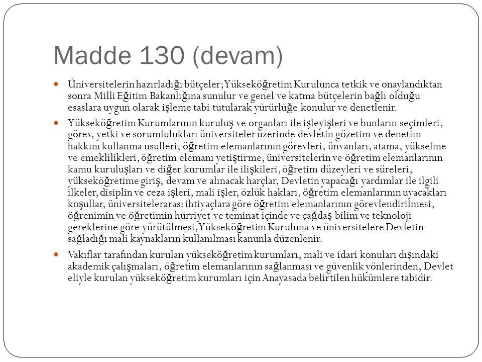 Madde 130 (devam)