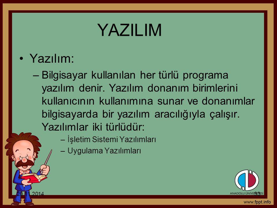 YAZILIM Yazılım: