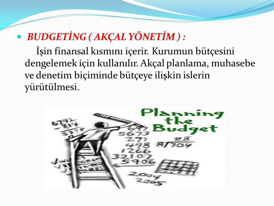 BUDGETİNG ( AKÇAL YÖNETİM ) :