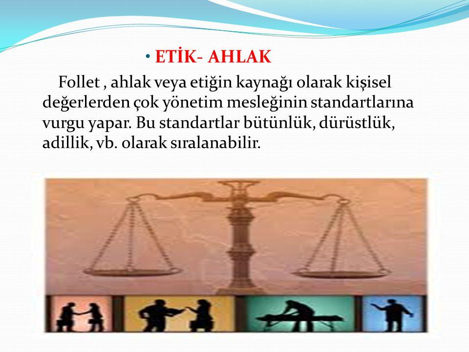 ETİK- AHLAK