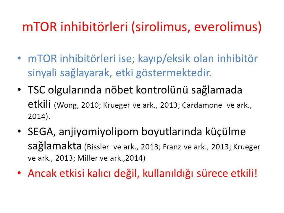 mTOR inhibitörleri (sirolimus, everolimus)