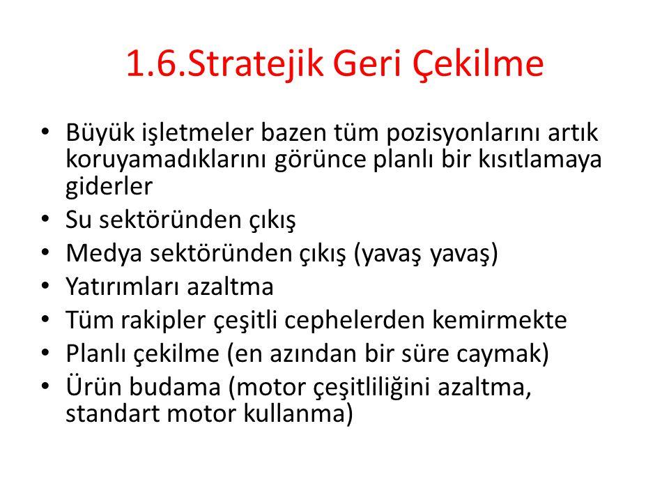 1.6.Stratejik Geri Çekilme