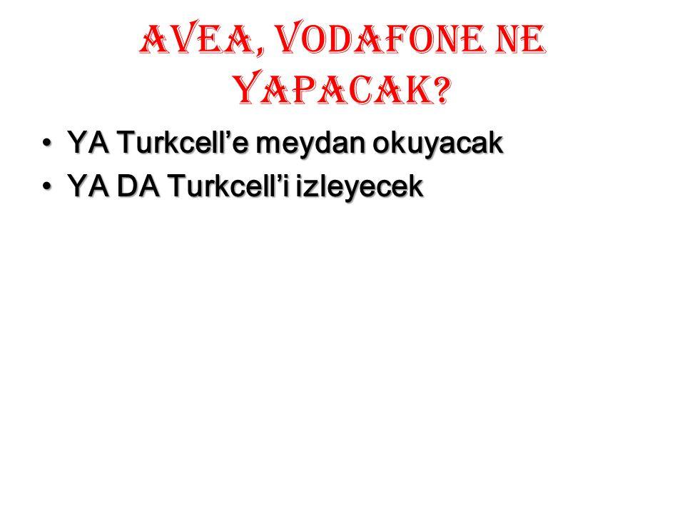 AVEA, Vodafone ne yapacak