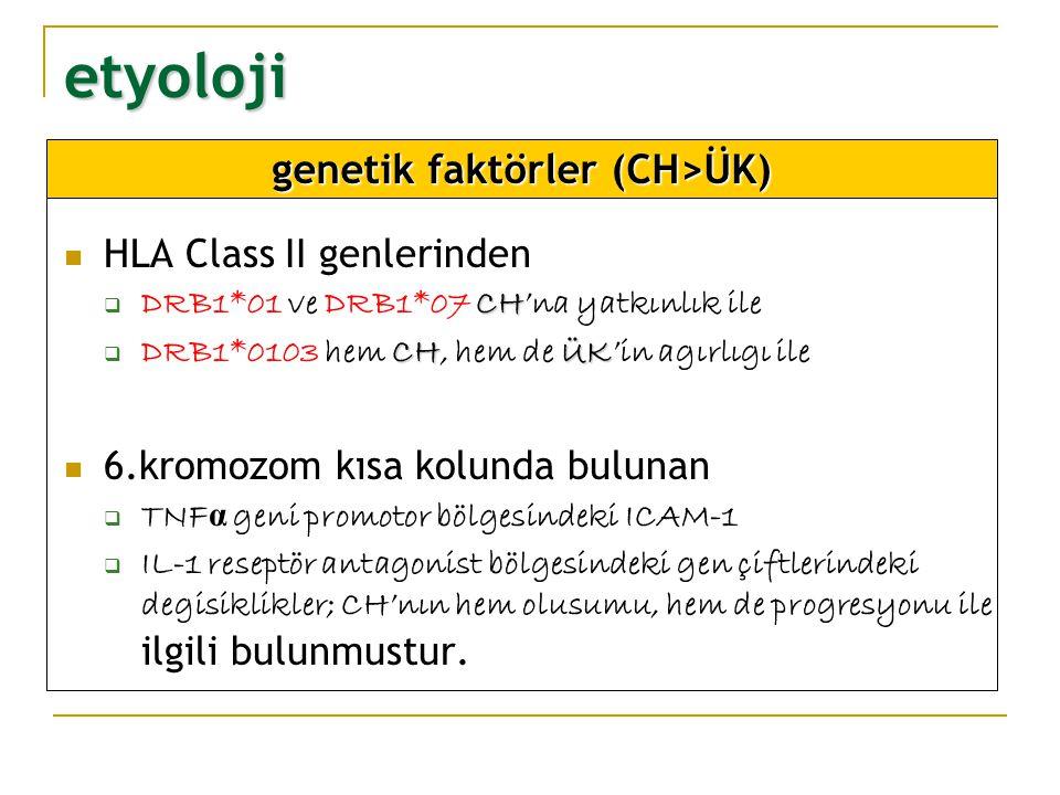 genetik faktörler (CH>ÜK)