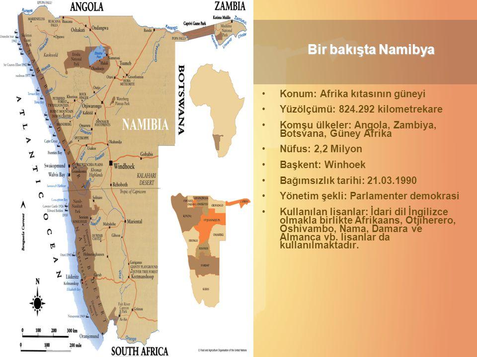 Bir bakışta Namibya Konum: Afrika kıtasının güneyi