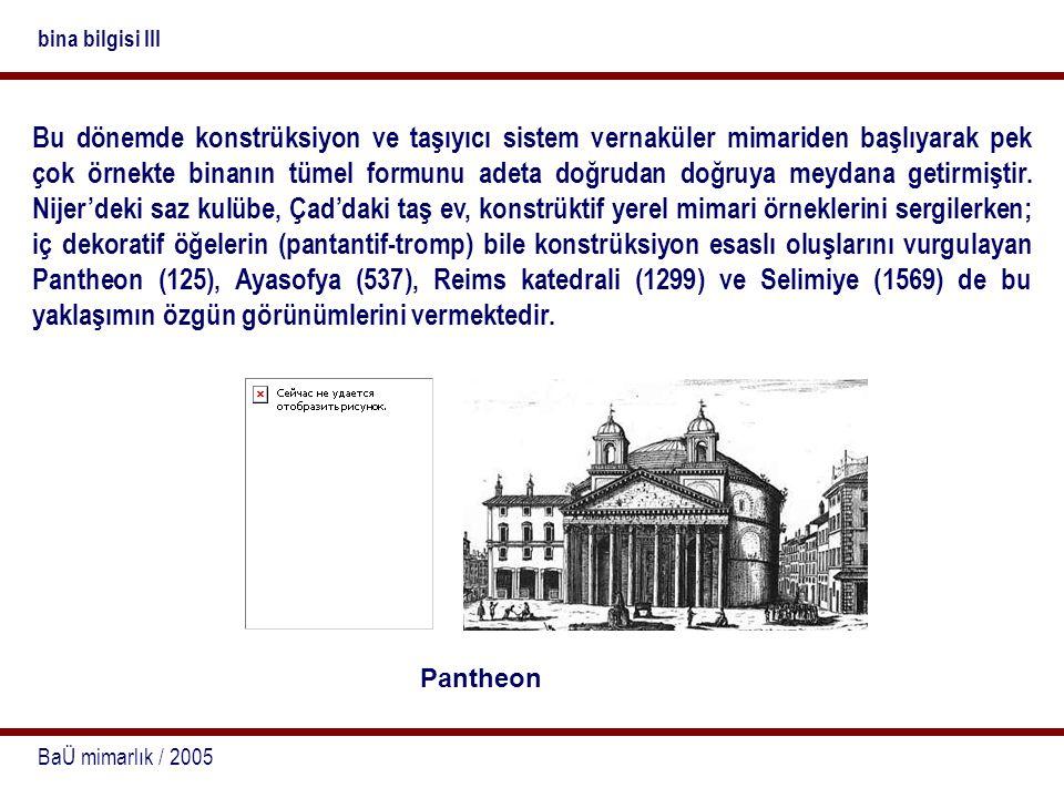 bina bilgisi III