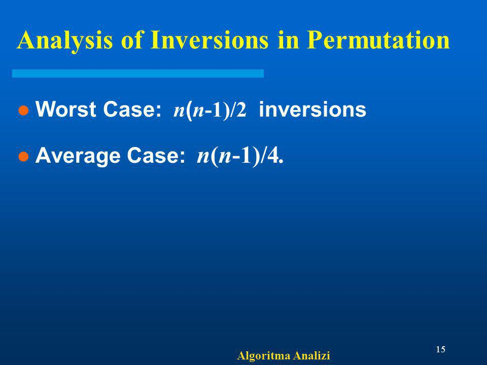 Analysis of Inversions in Permutation