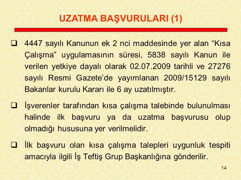 UZATMA BAŞVURULARI (1)