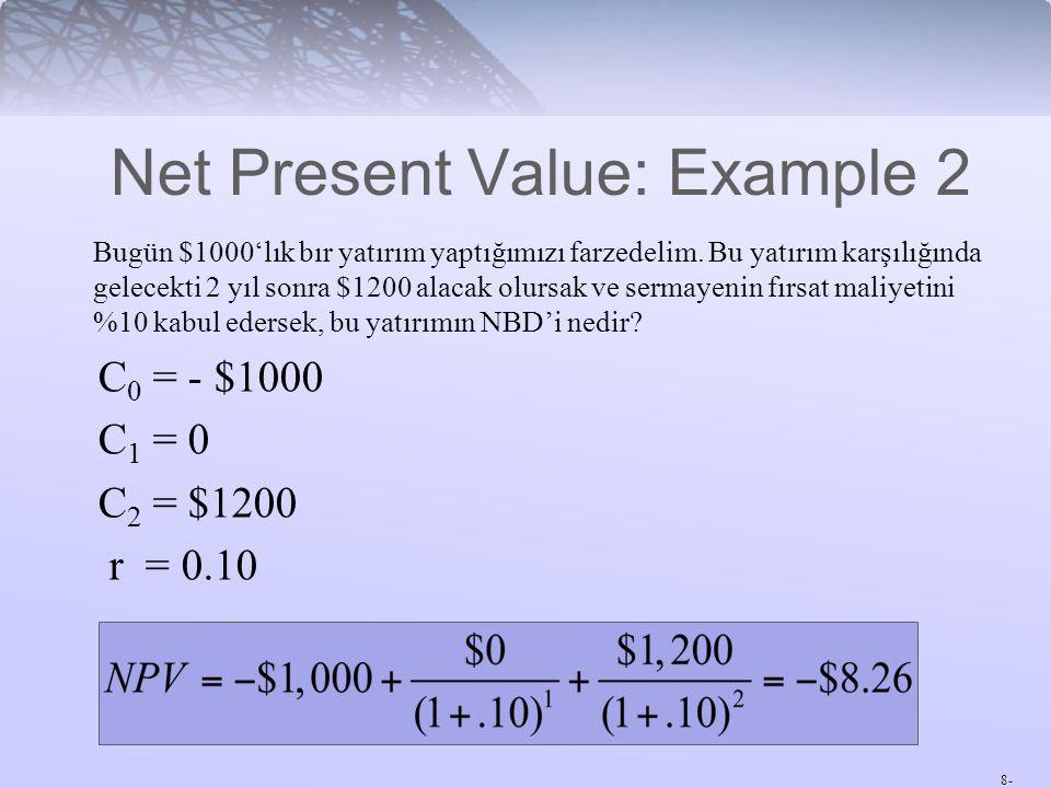 Net Present Value: Example 2