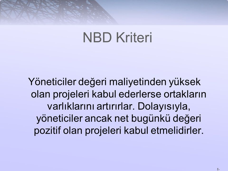 NBD Kriteri