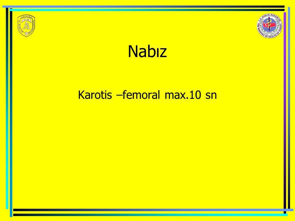 Karotis –femoral max.10 sn
